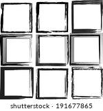 grunge frames | Shutterstock .eps vector #191677865