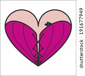 corset heart with lacing icon.... | Shutterstock .eps vector #191677949