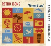 travel icons set. retro signs... | Shutterstock .eps vector #191678381