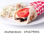 Beef Steak Wrap With Cheese An...