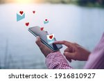 Hand Typing Love Letter Email...