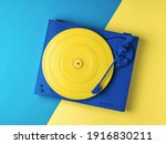 Stylish Yellow And Blue Vinyl...