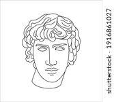 antique sculpture of antinous...   Shutterstock .eps vector #1916861027