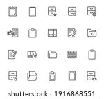 set of folder related vector... | Shutterstock .eps vector #1916868551
