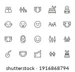 vector line icons collection of ... | Shutterstock .eps vector #1916868794
