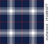Plaid Pattern In Navy Blue  Red ...