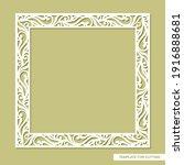 square frame for photo ... | Shutterstock .eps vector #1916888681