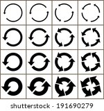 sixteen rotate arrow icon sign. ... | Shutterstock .eps vector #191690279