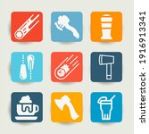 collection of 9 practicable... | Shutterstock . vector #1916913341