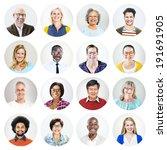 happy multiethnic peoples'... | Shutterstock . vector #191691905