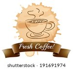illustration of a fresh coffee... | Shutterstock . vector #191691974