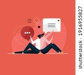 dating application concept ...   Shutterstock .eps vector #1916955827