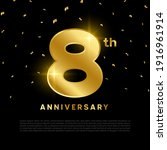 8th anniversary celebration... | Shutterstock .eps vector #1916961914