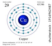 copper atomic structure has... | Shutterstock .eps vector #1916962487