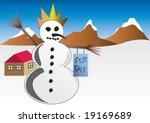 sale indicator snowman is...