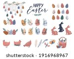Easter Set Clip Art Elements  ...