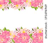 abstract flower background with ... | Shutterstock . vector #191696969