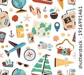 Seamless Pattern With Touristic ...