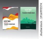 traveler's guide book cover... | Shutterstock .eps vector #1916995574