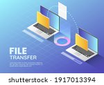 3d isometric web banner two...   Shutterstock .eps vector #1917013394