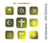 nine religion icons in one set... | Shutterstock .eps vector #1917014111