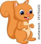 cute baby squirrel cartoon   Shutterstock . vector #191701631