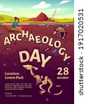 Archaeology Day Poster With...