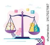 time is money concept. clock... | Shutterstock .eps vector #1917027587