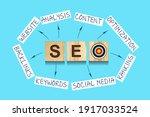seo concept. search engine...
