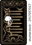 Nine Of Swords. Card Of Minor...