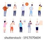 people ask. businessman asking...   Shutterstock .eps vector #1917070604