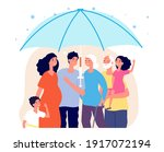family vaccinate. vaccination... | Shutterstock .eps vector #1917072194