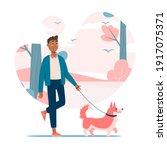 vector illustration. black boy...   Shutterstock .eps vector #1917075371
