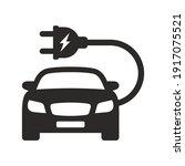 electric car icon. ev. electric ... | Shutterstock .eps vector #1917075521