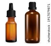 brown glass bottle. medical... | Shutterstock .eps vector #1917079871