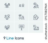 social problems icon set and...