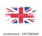 grunge flag of united kingdom... | Shutterstock .eps vector #1917084464
