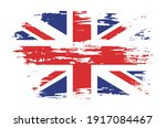 grunge flag of united kingdom... | Shutterstock .eps vector #1917084467