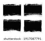 vector grunge distressed black... | Shutterstock .eps vector #1917087791