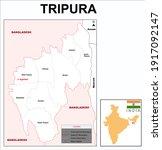 tripura map. highlight tripura... | Shutterstock .eps vector #1917092147
