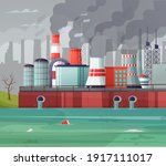 environmental pollution vector... | Shutterstock .eps vector #1917111017