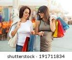 two beautiful women having fun... | Shutterstock . vector #191711834