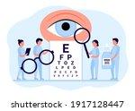 doctor is checkup eye vision.... | Shutterstock .eps vector #1917128447