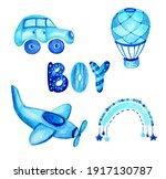 watercolor baby boy...   Shutterstock . vector #1917130787
