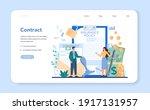 insurance agent web banner or... | Shutterstock .eps vector #1917131957