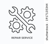 repair service flat line icon.... | Shutterstock .eps vector #1917135344