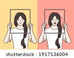 mental changes  contrasts in... | Shutterstock .eps vector #1917136004