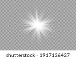 glowing white light effect.... | Shutterstock .eps vector #1917136427