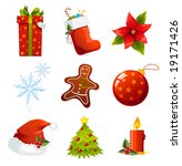 christmas icons | Shutterstock .eps vector #19171426