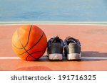 the pair of sport shoes and... | Shutterstock . vector #191716325